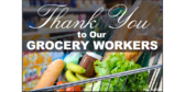 Thank You Grocery Workers Cart Yard Sign